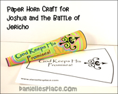 Paper Horn Craft for Joshua and the Battle of Jericho