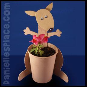 Kangaroo Planter Cup Craft