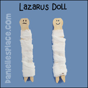 Lazarus Clothes Pin Dolls