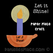 Let It Shine Paper Plate Craft