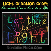 """""""Let There Be Light"""" Scratch Art Picture"""