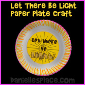 """""""Let There Be Light"""" Paper Plate Craft"""