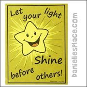 """""""Let Your Light Shine"""" Glowing Window Picture"""