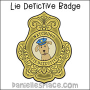 Lie Detective Watchdog Badge