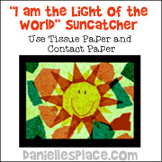 """I am the Light of the World"" Sun Catcher"
