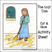 Lost Coin Cut and Glue Activity Sheet