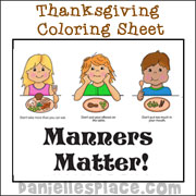 Manners Matter Coloring Sheet