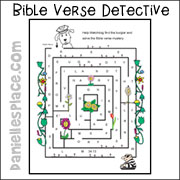 bible Verse Detective Watchdog Maze