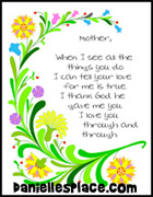 Mothers Day Frame Poem