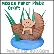 Paper Plate Craft for Moses Bible Lesson
