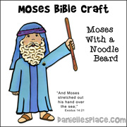 Moses Bible Craft with a Noodle Beard