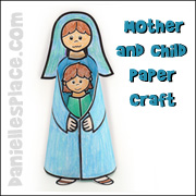 Mother and Child Paper Craft