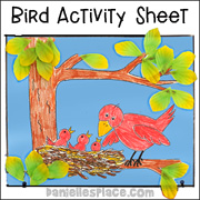 Mothers Day Bird Activity Sheet