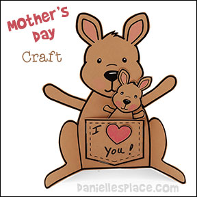 Mother's Day Kangaroo Paper Craft