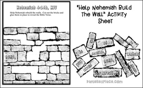 Nehemiah Activity Sheet Older