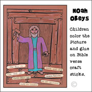 Noahs Ark Coloring Sheet
