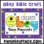 Obey Your Parents Bible Activity Sheet for Sunday School - Place