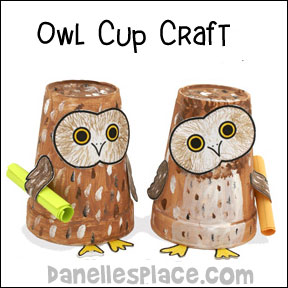 """Be Wise"" Paper Cup Owl"