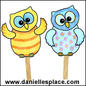 Colorful Owl Puppets