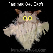 Feather Owl Craft