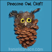 Pinecone Owl Craft