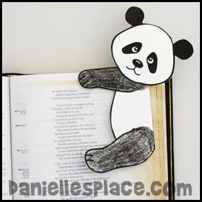 Panda Bear Bookmark Craft