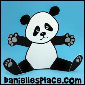 Sitting Panda Bear Paper Craft