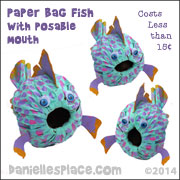 Paper Bag Fish with Posable Mouth
