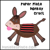 Paper Plate Donkey