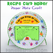 Paper Plate Recipe Card Holder