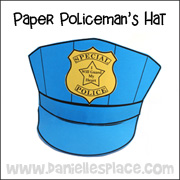 Police Hat Bible Craft for Sunday School