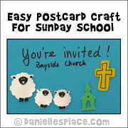 Easy Postcard Craft for Sunday School