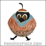 Thankful Quail Paper Plate Craft