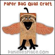 Paper Bag Quail Puppet