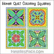 Honor Quilt Coloring Squares