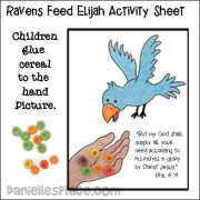 Picture of a Raven Feeding Elijah