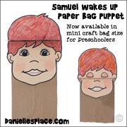Samuel Paper Bag Puppet Craft