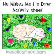 He Makes Me Lie Down Activity Sheet