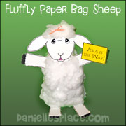 Fluffy Paper Bag Sheep