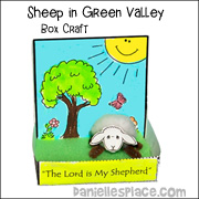Sheep in Green Valley Box Craft Display