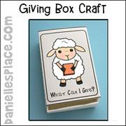 Sheep Giving Box Craft