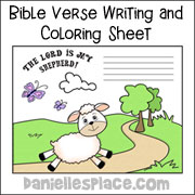 Bible Verse Writing and Coloring Sheet