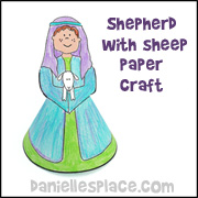Shepherd Boy with Sheep Standup Figure
