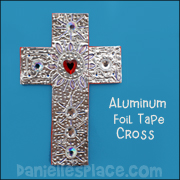 Silver Duct Tape 3D Cross Craft
