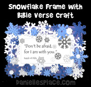 Snowflake Frame with Bible Verse Picture