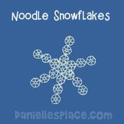 Wagon Wheel Noodle Snowflakes