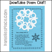 Snowflake with a Poem