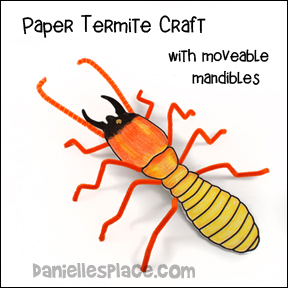 Termite with Moving Mandibles Paper Craft