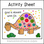 God is Always with Us Turtle Worksheet