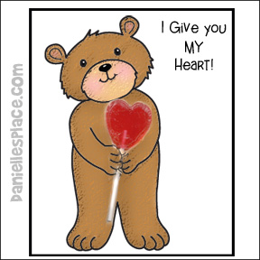 """""""I Give You My Heart!"""" Valentine's Day Card"""